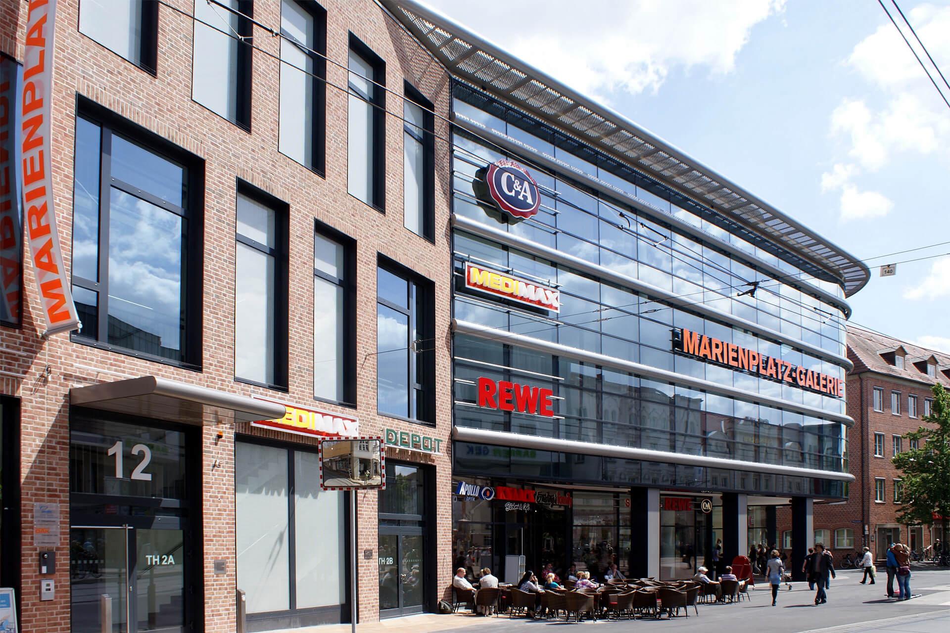 Schwerin, Marienplatz-Galerie, Einkaufszentrum